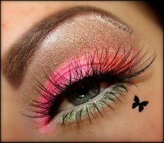 Spring eye! #eyeshadow #neon #bright #butterfly