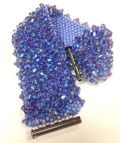 Periwinkle-Aqua Swarovski Bracelet by BUNNY123 on Etsy