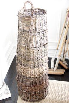 French Wicker Basket - unusual