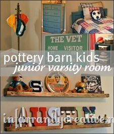 Pottery Barn kids inspired sports theme room - inspiration for N's room; we made wooden shelves for N's baseball collectibles Pottery Barn Inspired, Pottery Barn Kids, Home Bedroom, Kids Bedroom, Kids Rooms, Spring Break, Georgia, Kids Inspire, Kids Decor