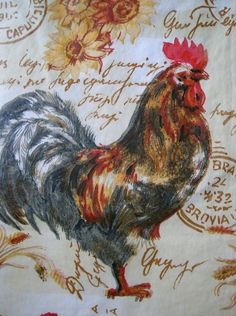 Assorted Sizes Vinyl /Flannel Back Roosters Tablecloths Multi-color by Elrene Vinyl Tablecloth, Tablecloths, Roses And Violets, Cleaning Wipes, Flannel, Roosters, Nantucket, Color, Table Toppers