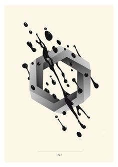 Impossible figures by David Sanden, via Behance