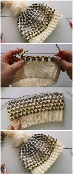 Crochet Beanie Hat - Free Pattern [Video] - - Crochet Beanie Hat – Free Pattern [Video] Tricô e crochê Crochet Beanie Hat – Free Pattern [Video] – ilove-crochet Crochet Gifts, Crochet Baby, Free Crochet, Knit Crochet, Easy Crochet, Patron Crochet, Booties Crochet, Single Crochet, Crochet Beanie Hat Free Pattern