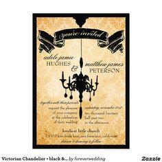 Victorian Chandelier • black & cream Wedding