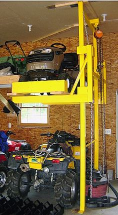 ATV Lift..... If I ever get a treehouse I will need this to get up to it :)