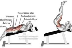 Incline straight leg and hip raise #bodybuilding #healthandfitness