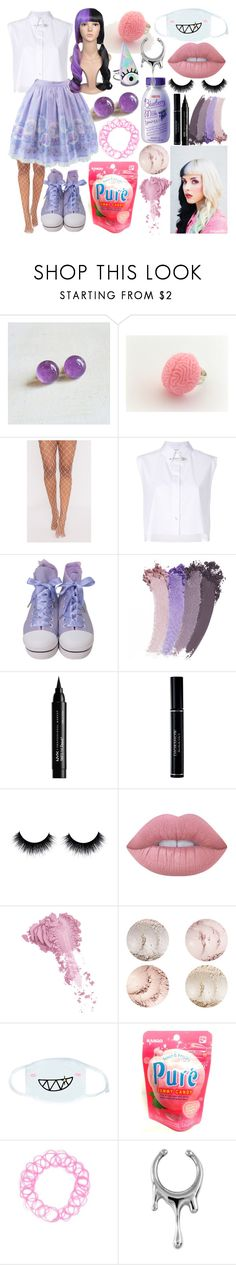 """""""Melanie Martinez Inspired"""" by dappershadow ❤ liked on Polyvore featuring Helmut Lang, Gucci, NYX, Christian Dior, Lime Crime, Bésame, cutekawaii and Forever 21"""