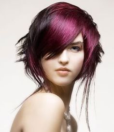intense hair color violet, blue and black