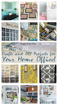 Collection of 20 home office crafts & diy projects