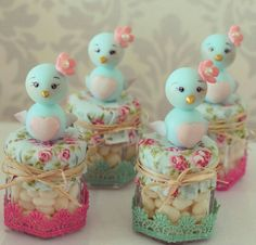 Inspire your Party ® Clay Crafts, Diy And Crafts, Arts And Crafts, Idee Diy, Ideas Para Fiestas, Mason Jar Crafts, Cold Porcelain, Baby Shower Parties, Easter Crafts
