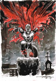 Day 26 - SPAWN inkwash on A4 canson paper