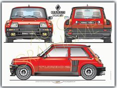 Renault R5turbo 2 Renault 5 Turbo, Renault Sport, Sport Cars, Race Cars, Paper Car, Cabriolet, Car Drawings, Rally Car, Old Cars