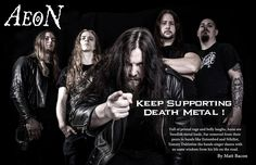Full of primal rage and belly laughs, Aeon are Swedish metal lords. Far removed from their peers in bands like Entombed and Nihilist, Tommy Dahlstöm the bands singer shares with us some wisdom from...