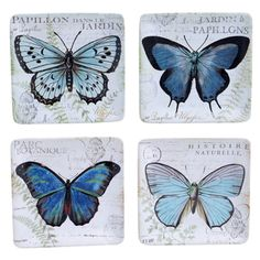 Certified International Tuileries Garden 6-inch Canape Plates with Assorted Designs (Set of 4)