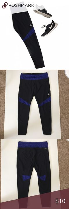 Adidas Workout Leggings Workout leggings with mesh detailing around the knees with climalite technology. adidas Pants Leggings