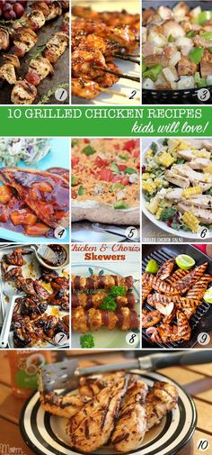 These kid friendly grilled chicken recipes look DELICIOUS and should see us through the summer!