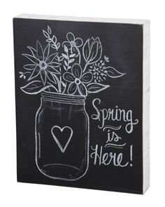 Inspiration for your spring chalkboard art. Use Wallies' peel-and-stick chalkboard sheets for an easy-to-use chalkboard surface you can apply anywhere.