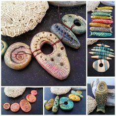 polymer clay beads by Staci Louise