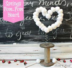 Springy Pom Pom Heart - Mom 4 Real