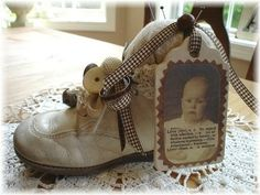 altered baby shoe...am doing this for sure.