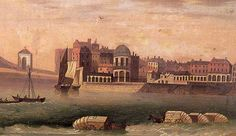Droit House with Bathing Machines, Margate, Kent c.1800. Keats visited Margate several times, the first being during the summer of 1816 with his brother Tom.