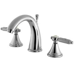 Kingston Brass Chrome 2 Handle Widespread Bathroom Faucet w Pop-up FS7981GL