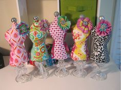 These are so cute...and a DYI http://www.thediydish.com/2011/10/season-4-how-to-make-a-dress-form-mannequin-pin-cushion/