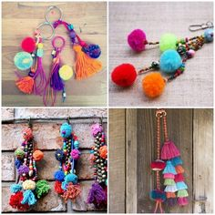 Ideas for Twiddle Muffs Pom Pom Crafts, Yarn Crafts, Diy And Crafts, Arts And Crafts, Diy Tassel, Tassels, Diy Gifts, Handmade Gifts, Pom Pon