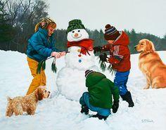 """Frosty  Friends"" by Tom Sierak"