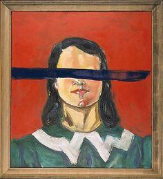 "ART BLOG ART BLOG: ""Untitled (Girl with no eyes),"" 2001, Julian Schnabel"