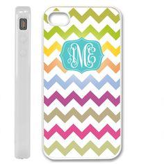 rainbow monogram special design iphone case 4 /4s Birthday .......