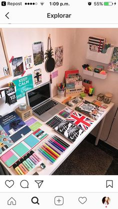 my room - Diy Stationery Study Room Decor, Bedroom Decor, Cute School Supplies, Study Desk, Desk Organization, Backpack Organization, My Room, Girls Bedroom, Home Decor