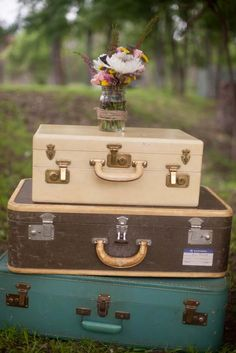 Austin Wedding at Cedar Bend Events by Nicole Ryan Photography Nicole Ryan, British Decor, Vintage Suitcases, Jack And Sally, Wedding Inspiration, Wedding Ideas, Pretty Little, Color Combos, Cute Pictures