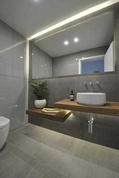 moderne gestaltung waschtischplatte aus massivholz - Dusche Indirekte Beleuchtung