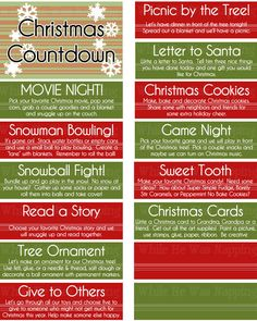 Kid's Christmas Activities Countdown Boredom by WhileHeWasNapping