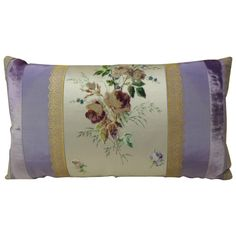 Antique Lavender + Pillow  18th Century French Pastel Lavender Silk Bolster Pillow | From a unique collection of antique and modern pillows and throws at https://www.1stdibs.com/furniture/more-furniture-collectibles/pillows-throws/