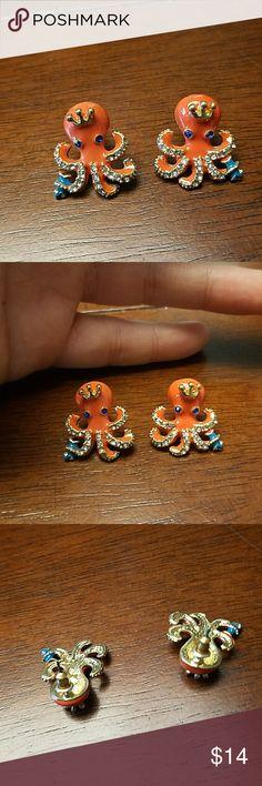 New octopus crystal enamel earrings New octopus crystal enamel earrings Jewelry Earrings