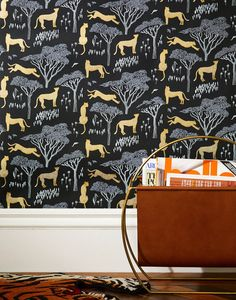 Our luxe, modern wallpapers are screen printed by hand Details - Roll: 27 in x 30 ft - Sample: 8.5 in x 11 in - Vertical Repeat: 9 in - Match: straight across - Finish: pre-trimmed - Material: clay co