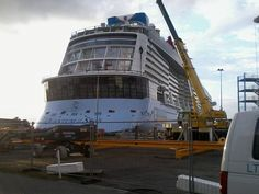 Quantum of the Seas at Meyer Werft in Papenburg, Germany.