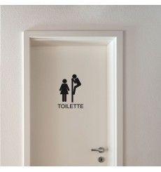 Sticker signalétique toilette | Fanastick.com Stickers Wc, Funny Stickers, Signage Design, Cafe Design, House Design, Logo Wc, Sticker Toilette, Wc Icon, Raclette Fondue