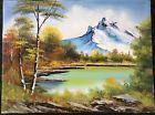 """Bob Ross Original Oil Painting on Canvas Signed """"The Joy of Painting"""" PBS"""