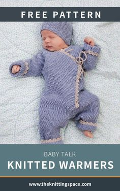 Baby Talk / DROPS Baby - Free knitting patterns by DROPS Design, Knitted one-piece with knitted sleeves and hat for babies with pearl pattern, ridges and crochet edge. The set is knitted in DROPS BabyMerino. Baby Clothes Patterns, Baby Knitting Patterns, Knitting Designs, Free Knitting, Crochet Patterns, Knitting Ideas, Drops Design, Crochet For Kids, Crochet Baby
