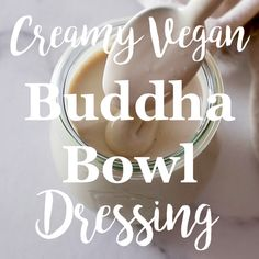 This super easy vegan creamy tahini dressing is the sauce you've been waiting for to drizzle over your Buddha bowl to make it even more delicious. Vegan Tahini Dressing, Avocado Dressing, Bol Buddha, Vegan Vegetarian, Vegetarian Recipes, Vegan Raw, Falafel Salad, Happy Kitchen, Sauces