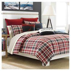 Found it at Wayfair - Nautica Mainsail Comforter Set in Navy & Redhttp://www.wayfair.com/daily-sales/p/Bedding-Refresh-featuring-Nautica-Nautica-Mainsail-Comforter-Set-in-Navy-%26-Red~NAL1353~E12850.html?refid=SBP.rBAZEVG78Bks-weLFtXTAkgKOfKGVk1PtLgzBTfTbEw