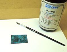 blue patina on copper - salt and vinegar solution