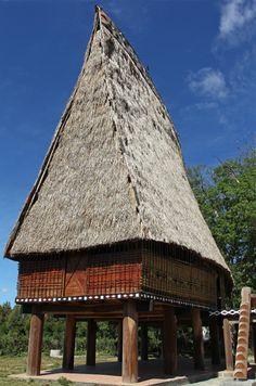 Community house (rong) in Central Highlands -Vietnam   par Bertrand Linet