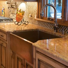 Farmhouse Sink | Copper farm sink, Hammered copper and Sinks