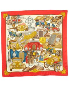 "Hermes ""Automobile"" by Joachim Metz Silk Scarf is on Rue. Shop it now."