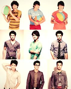 Jonas Brothers younger and older. <3 They looked so cute when they were younger!