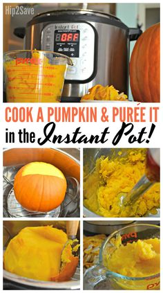 Here's how to easily cook and puree a whole pumpkin in your Instant Pot pressure cooker!